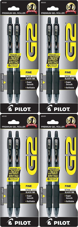 Pilot G2 Retractable Rolling Ball Gel Pens 2-Pack