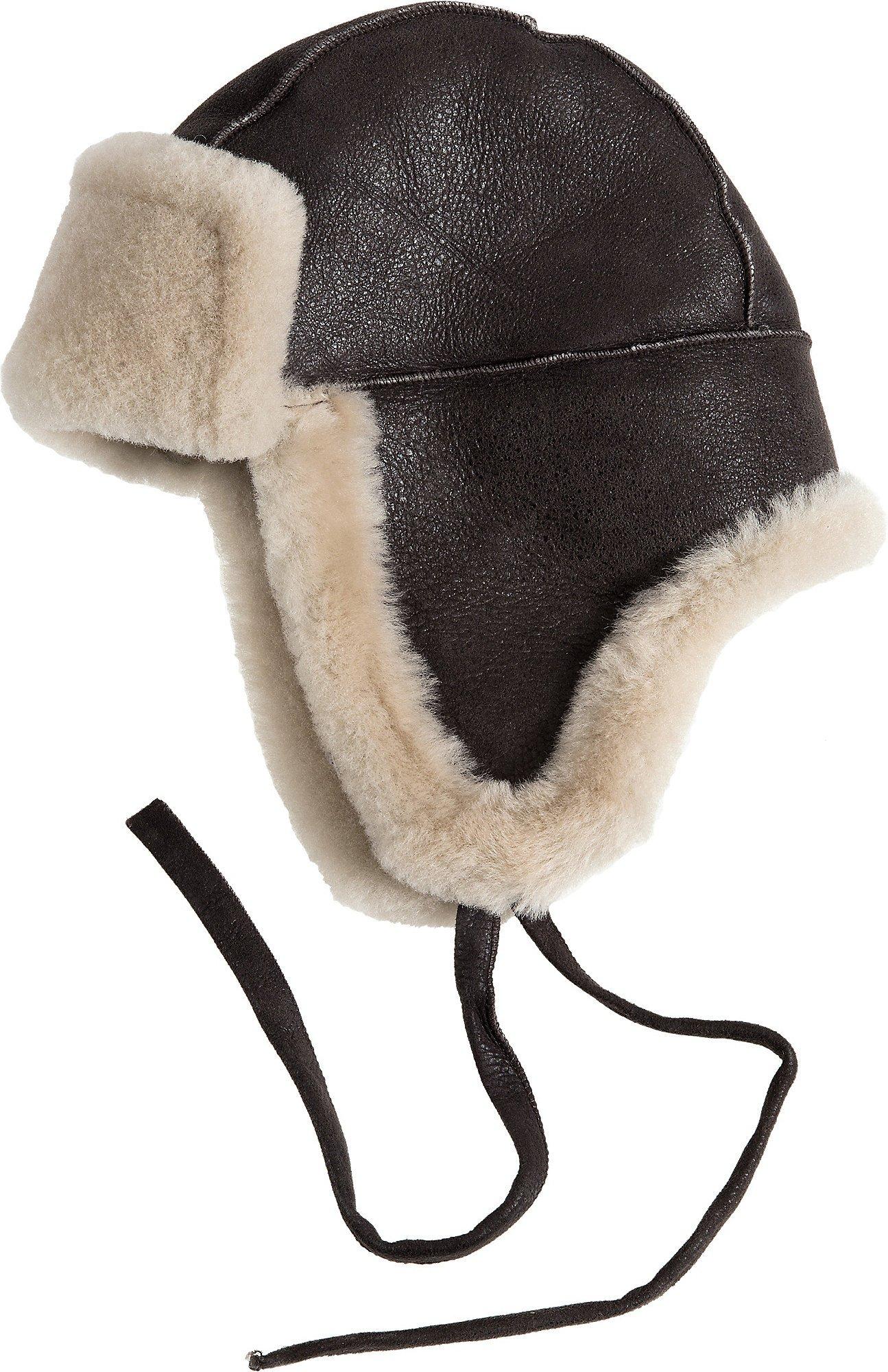 Overland Sheepskin Co B-3 Sheepskin Aviator Hat