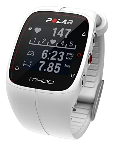 Polar M400 90051346 del hombre blanco reloj de cuarzo de silicona: Polar: Amazon.es: Relojes