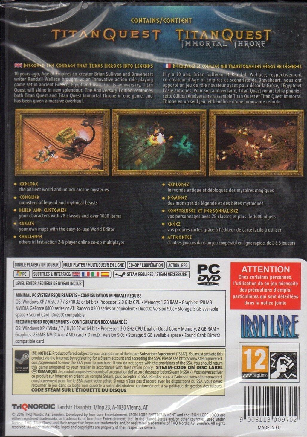 Carte Du Monde Il Y A 40000 Ans.Titan Quest Anniversary Edition Pc Dvd Amazon Co Uk Pc