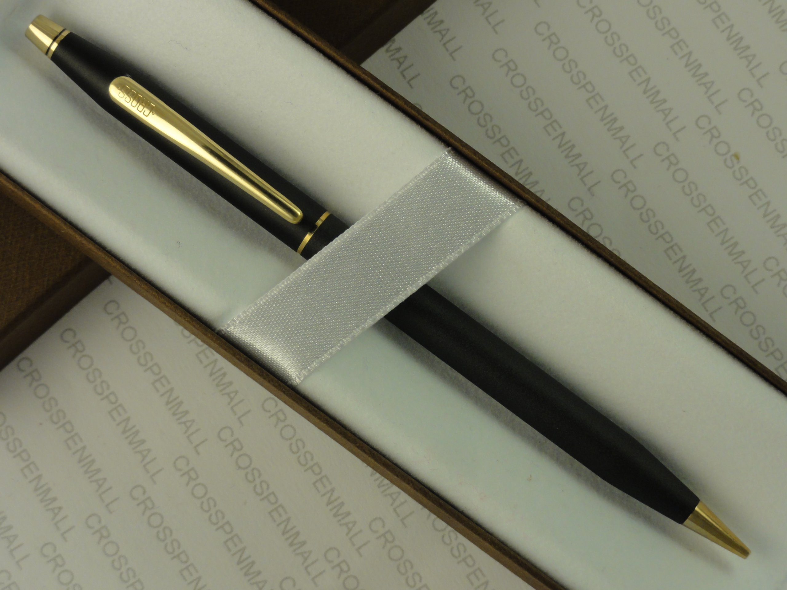 Cross Made in the USA Century Classic Satin Matte Black and 23k Gold with 0.5MM Lead Pencil