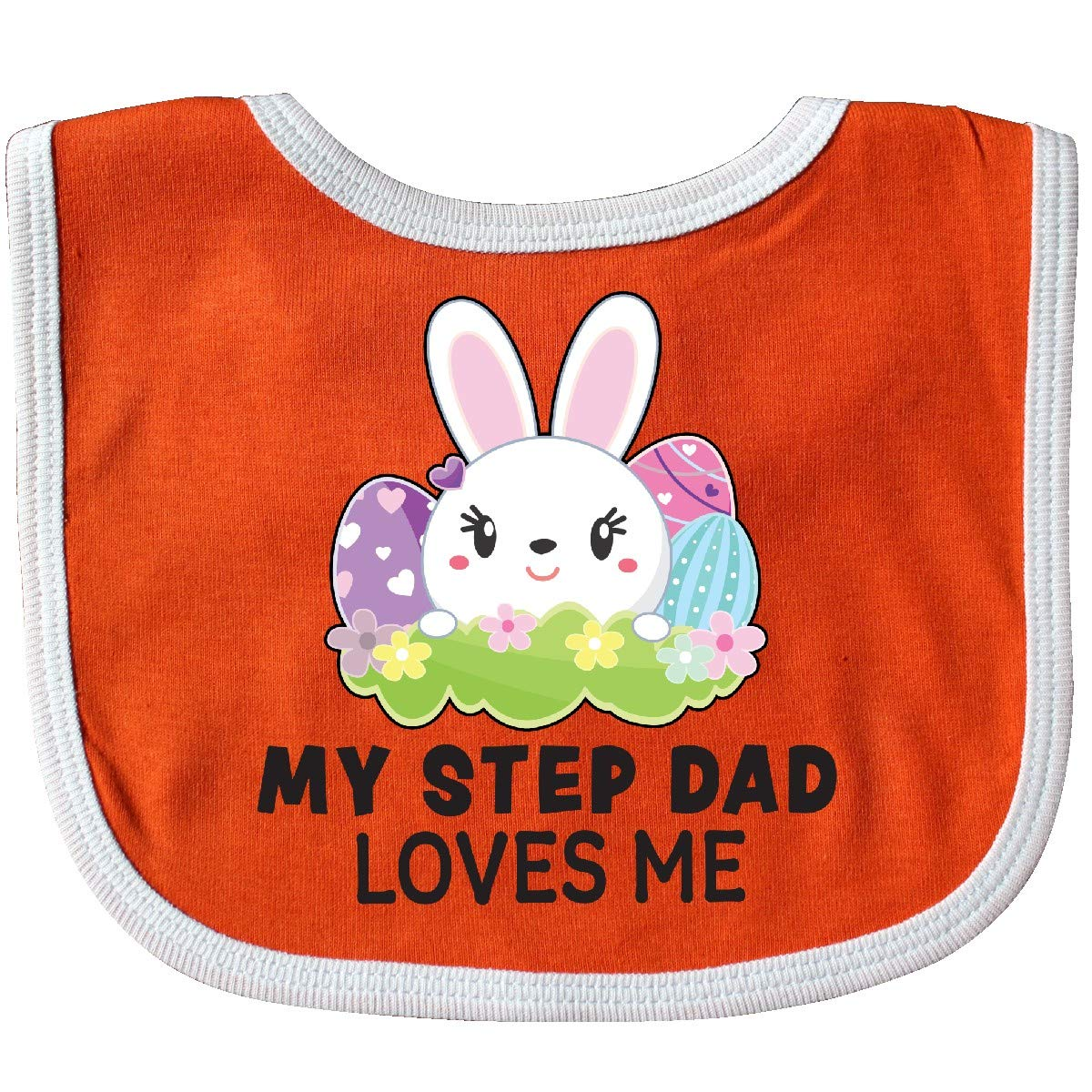 inktastic My Step Father Loves Me with Bunny and Easter Eggs Toddler T-Shirt