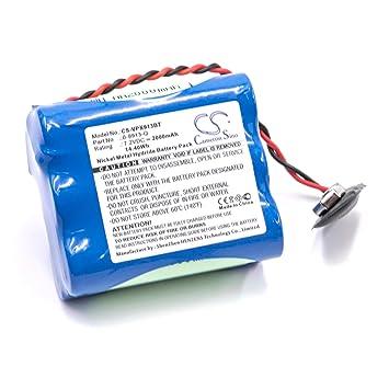 vhbw NiMH batería 2000mAh (7.2V) para Control de Alarma ...