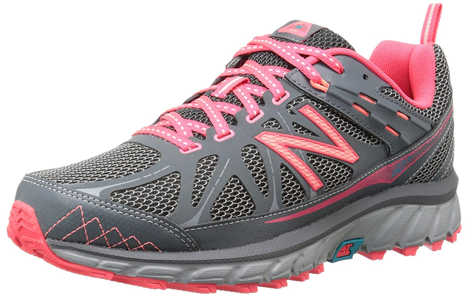 New Balance Women's WT610V4 Trail Shoe B00KJCIJT8 8 D US|Grey/Pink
