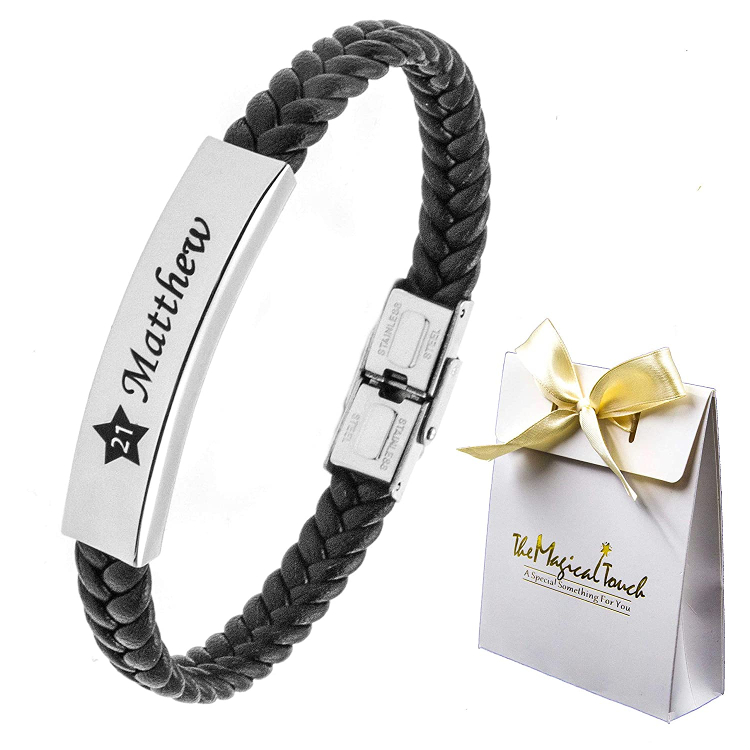 Men/'s hand made leather bracelet,4 sizes,real leather,stainless steel,3 colours