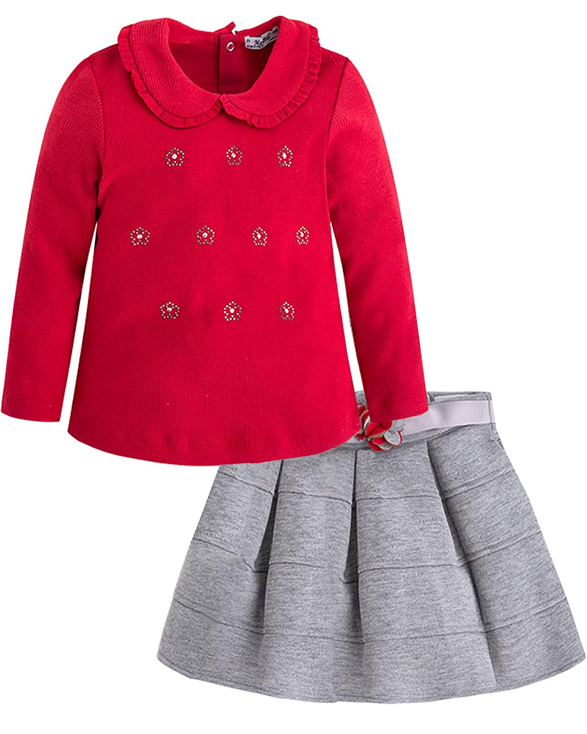 Mayoral Girl's Top and Pleated Skirt Set, Sizes 2-9 Sizes 2-9 - 7