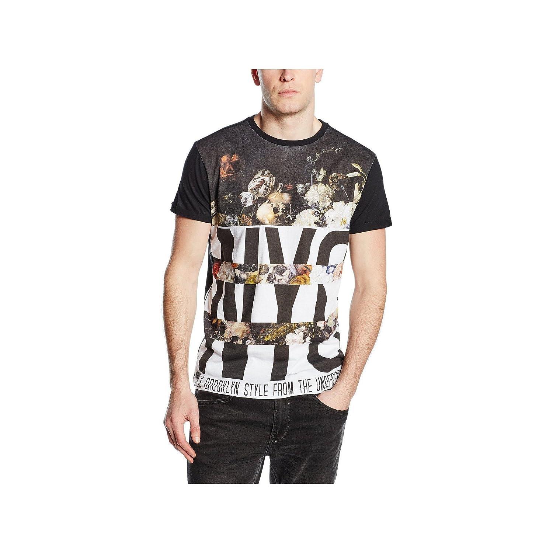 T-shirt homme manches courtes Deeluxe R茅volution Noir
