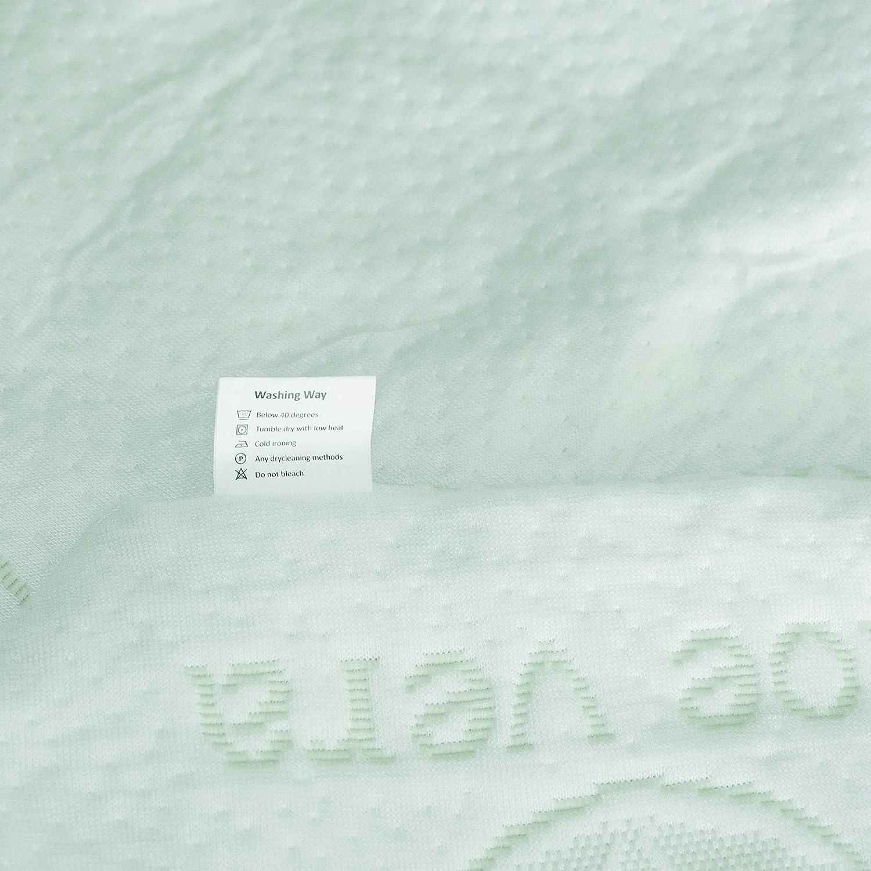 Aloe Vera Kissenbezug 70x40x9cm Luxamel Kopfkissen Nackenkissen Inkl orthop/ädisches Nackenst/ützkissen gegen Kopf und Nackenschmerzen Memory Kissen /Öko-Tex