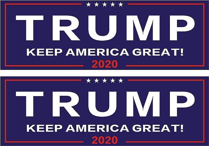 GOP pro Republican Magnetic Trump 2020 RWB Stars Magnet