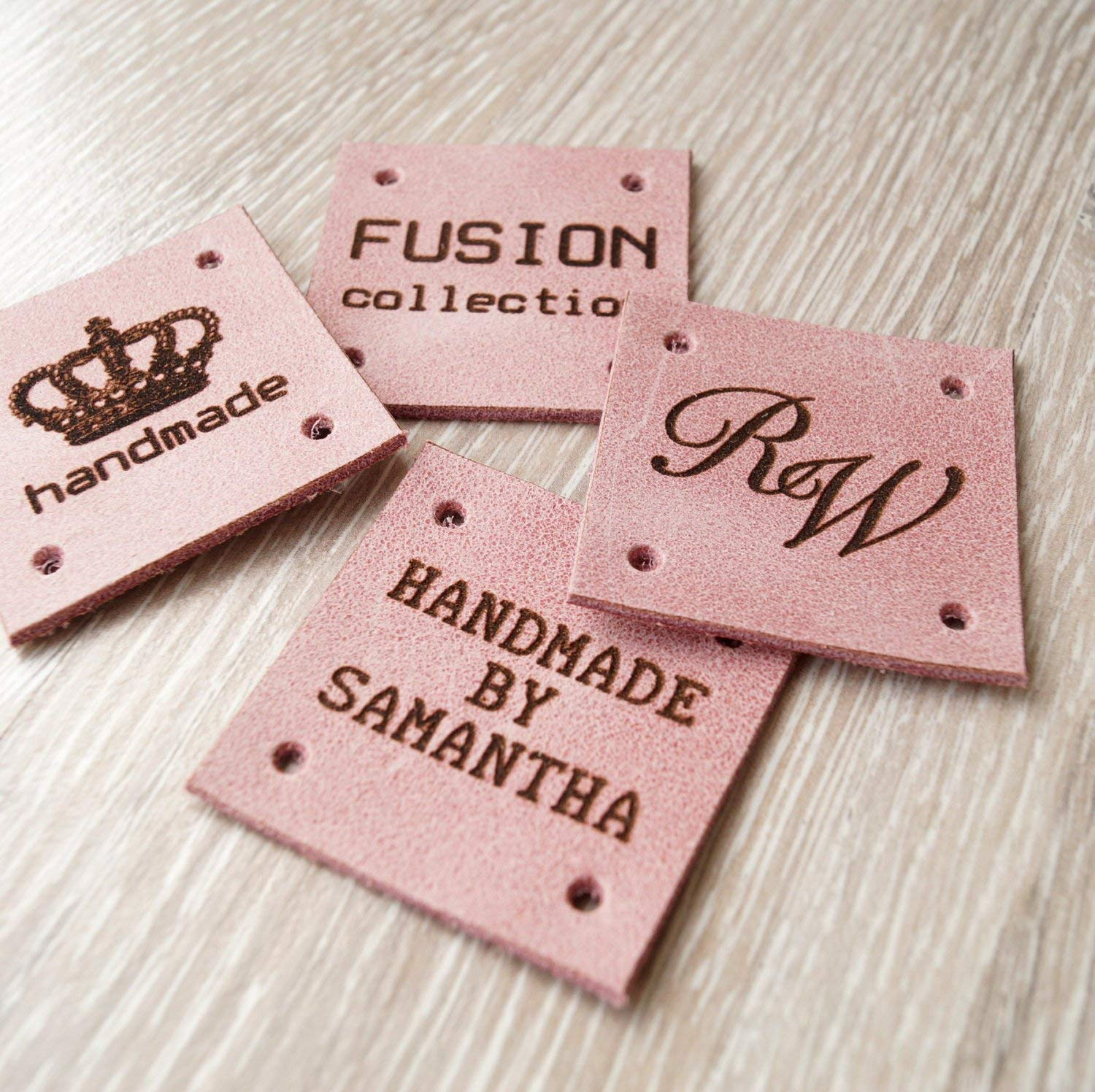 a79126c7a944 Amazon.com: Leather sewing tags, custom labels, personalized leather ...