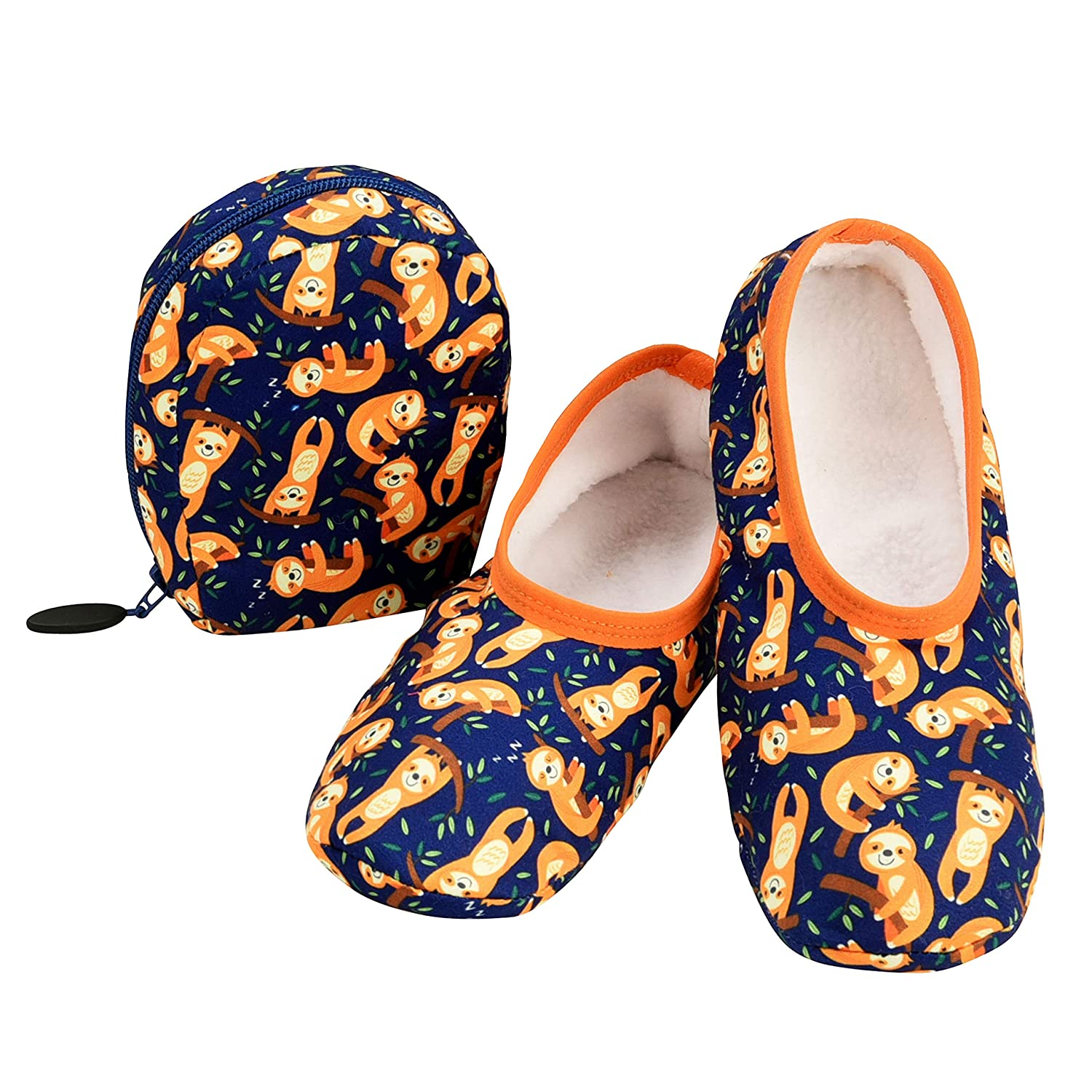 Purse Slippers for Women Snoozies Skinnies /& Travel Pouch Womens Slippers On The Go Travel Flats with Pouch