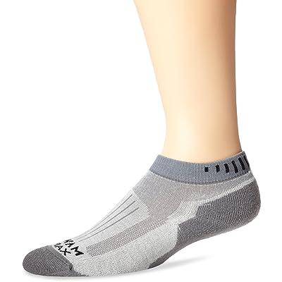 Wigwam Men's Merino Ridge Runner Pro Quarter Socks, Light Grey, Sock Size:10-13/Shoe Size: 6-12: Clothing
