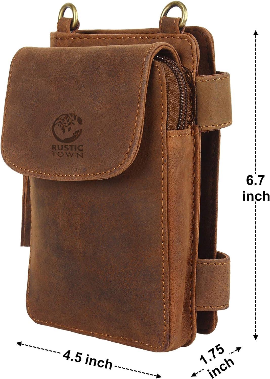 Handmade Genuine Leather Zippered Crossbody Wallet Pouch ~ Gift for Men Women