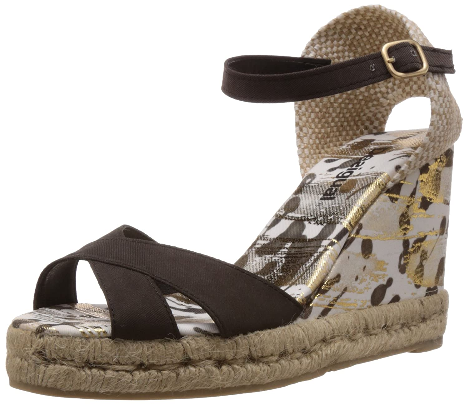 hot sale 2017 Desigual Shoes_gold, 8010 Dorado, 36, Sandales femme