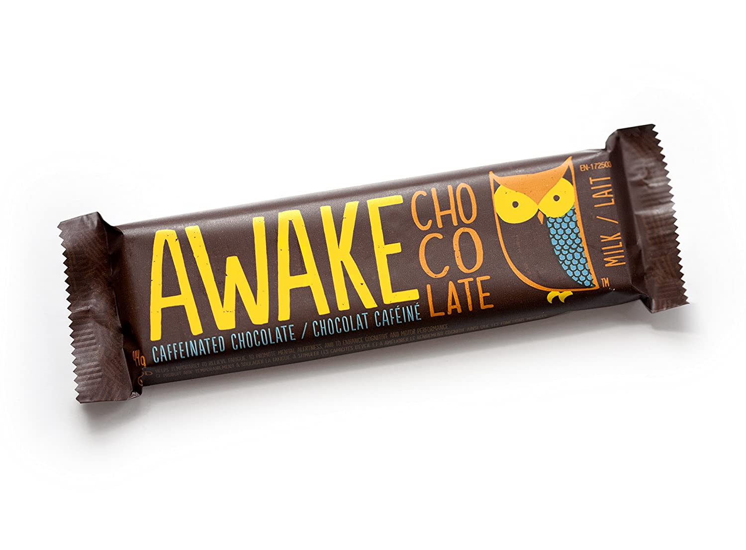 AWAKE Caffeinated Chocolate Bars – Milk Chocolate with Caffeine ...