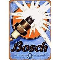 Bosch Spark Plugs Affiche /Étain M/étal Mur Signe Vintage Plaque R/étro Attention D/écorative M/étallique Panneau pour Caf/é Bar Chambre H/ôtels Clubs Parc