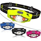 Headlamp by SmarterLife | Ultra Bright & Light Headlamps | CREE LED with 6 Light Modes | Water Resistant Headlight for Camping, Running, Hiking, Car, Night Stand | Battery + eBook