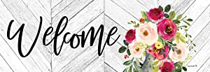 Custom Decor Welcome - Milk Can Flowers - Signature Sign - 5 inch x 15 inch PVC Sign Licensed, Trademarked, Copyright by CDI. Made in The USA