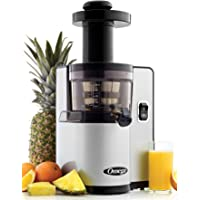 Omega Juicers VSJ843QS Vertical Slow Masticating Juicer with Quiet Motor Juicer Extractor Features Automatic Pulp Ejection Makes Fresh Fruit and Vegetable Juice at 43 RPM, 150-Watt, Silver
