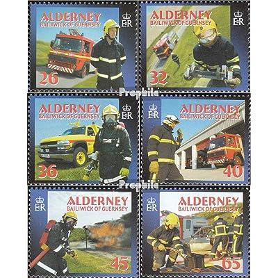 gb-alderney 242-247 (complète.Edition.) 2004 sapeurs-pompiers (Timbres pour les collectionneurs)