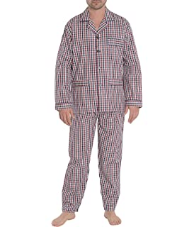 Best Deals Direct Conjunto de pijama de algodón lisos para hombre ...