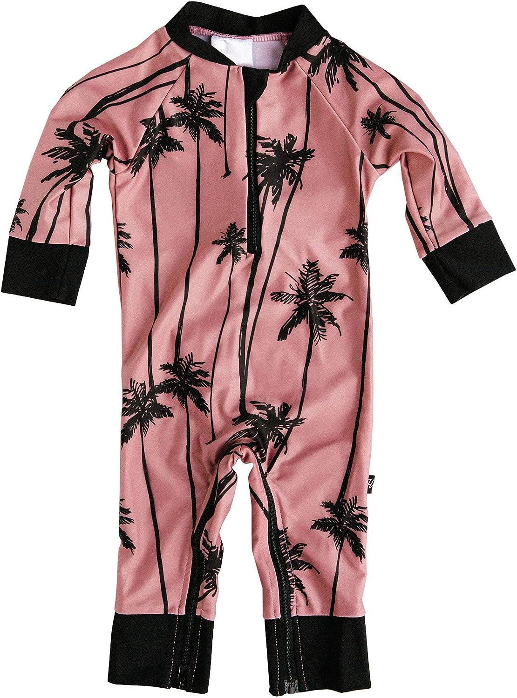 Easy Inseam Diaper Zipper Certified UPF 50+ Whaley Cute Baby Swimsuit