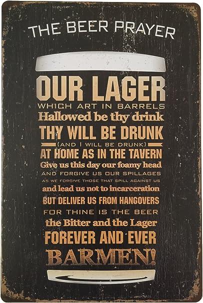 20x30cm Metal Tin Sign Plaque Picture Sheet BEER WORLD Vintage Pub Bar Decor