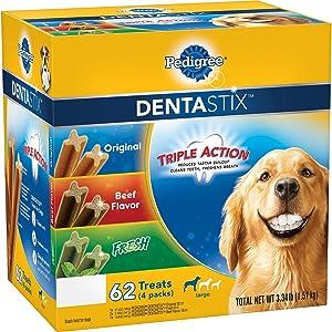 Pedigree DentaStix Dog Treats, Variety Pack (3.34 lbs, 62 ct.) (Pack of 6)