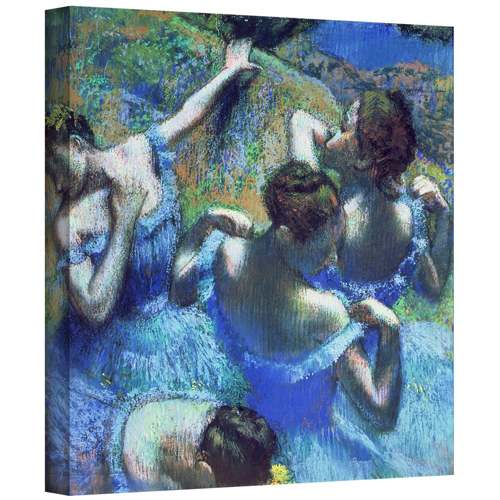 ArtWall 'Blue Dancers' Gallery-Wrapped Canvas Artwork by Edgar Degas, 24 by 24-Inch