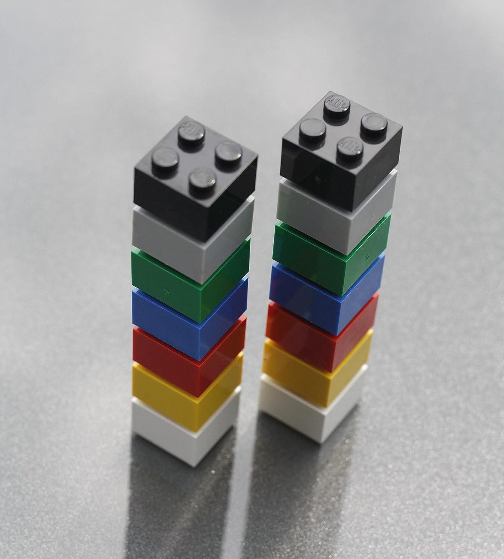 bunt Magnettafel oder K/ühlschrank//Lern-Magnete Neodym-Magnete FLUX-Objects Magnet-Bausteine f/ür Pinnwand 14 St/ück