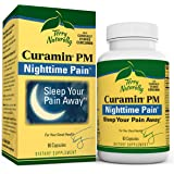 Terry Naturally Curamin PM - 60 Vegan Capsules - Non-Habit Forming Nighttime Pain Relief Supplement, Contains Curcumin & Mela