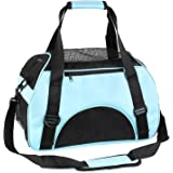 Pedy Portable Pet Carrier,Airline Approved Under Seat Handbag Shoulder Bag, Pet Travel Carrier for Dogs and Cats, Blue