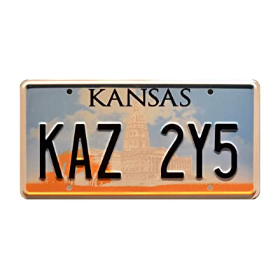 Celebrity Machines Supernatural | Kaz 2Y5 | Metal Stamped License Plate: Automotive