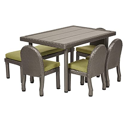 Kids Patio Furniture.Amazon Com Ecr4kids Petite Patio Furniture Set For Kids 6 Piece