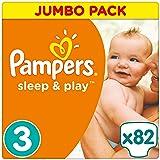 Pampers Sleep e Play dimensioni 3Jumbo, confezione 82pezzi