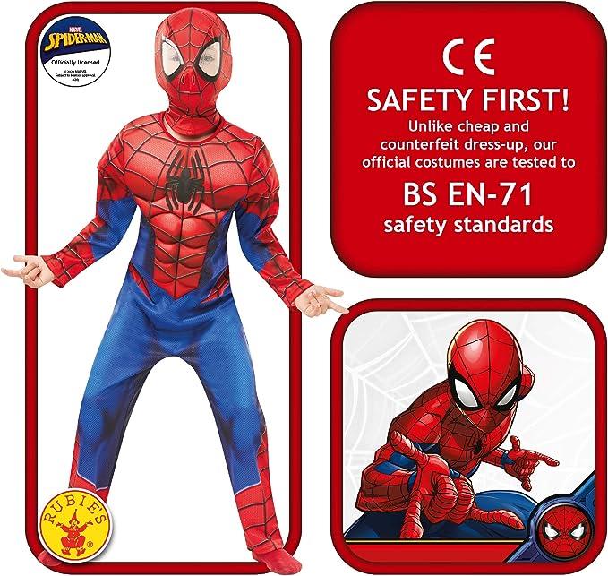 Ragazzi, 9-10 ANNI RUBIE/'S 640895 Marvel Spider-Man Costume da bambino Deluxe
