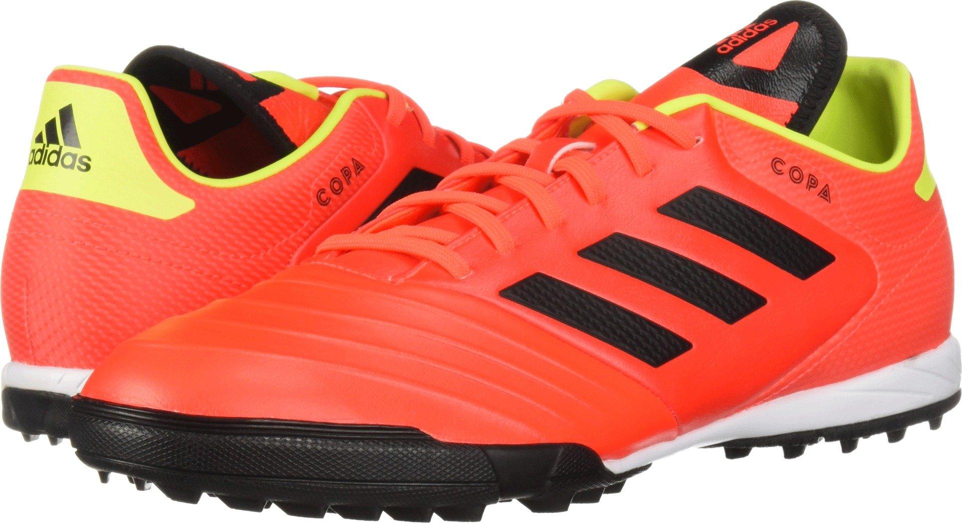 adidas Men's Copa Tango 18.3 Turf Soccer Shoe, Solar Red/Black/Solar Yellow, 9.5 M US