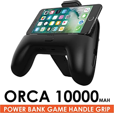 Orca - Empuñadura de Batería para Todos los Smartphones (10000 mAh ...