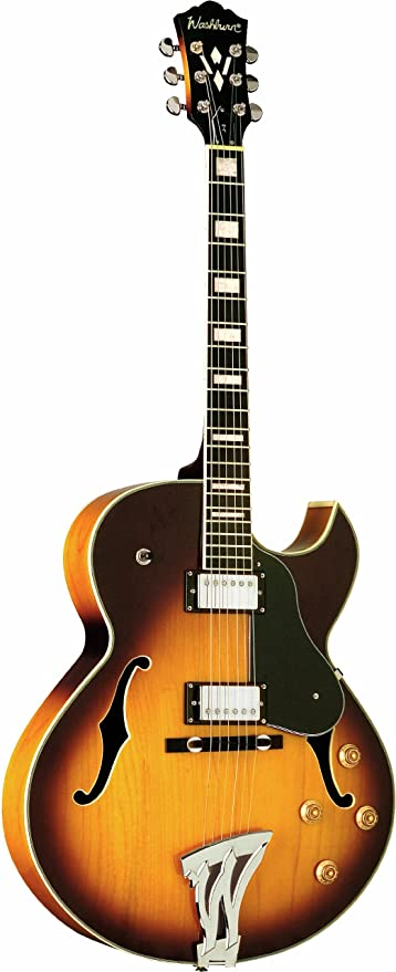 Washburn 6 String Hollow-Body Electric Guitar, Tobacco Sunburst (J3TSK-O)