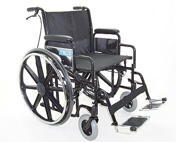 Z-Tec - Silla de ruedas plegable con asiento de 56 cm: Amazon.es: Salud y cuidado personal