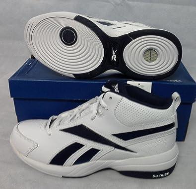 Reebok Mens Reebok Court Flyer Basketball Sneakers White White White