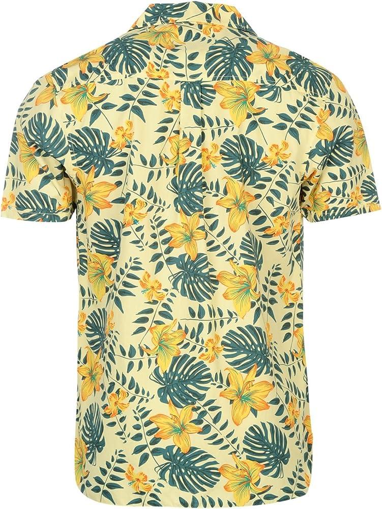 Pierre Cardin Hombre Floral Camisa Mangas Cortas Boton Cierre ...