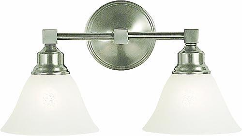 Framburg 2422 BN/WH Taylor 2-Light Vanity Fixture