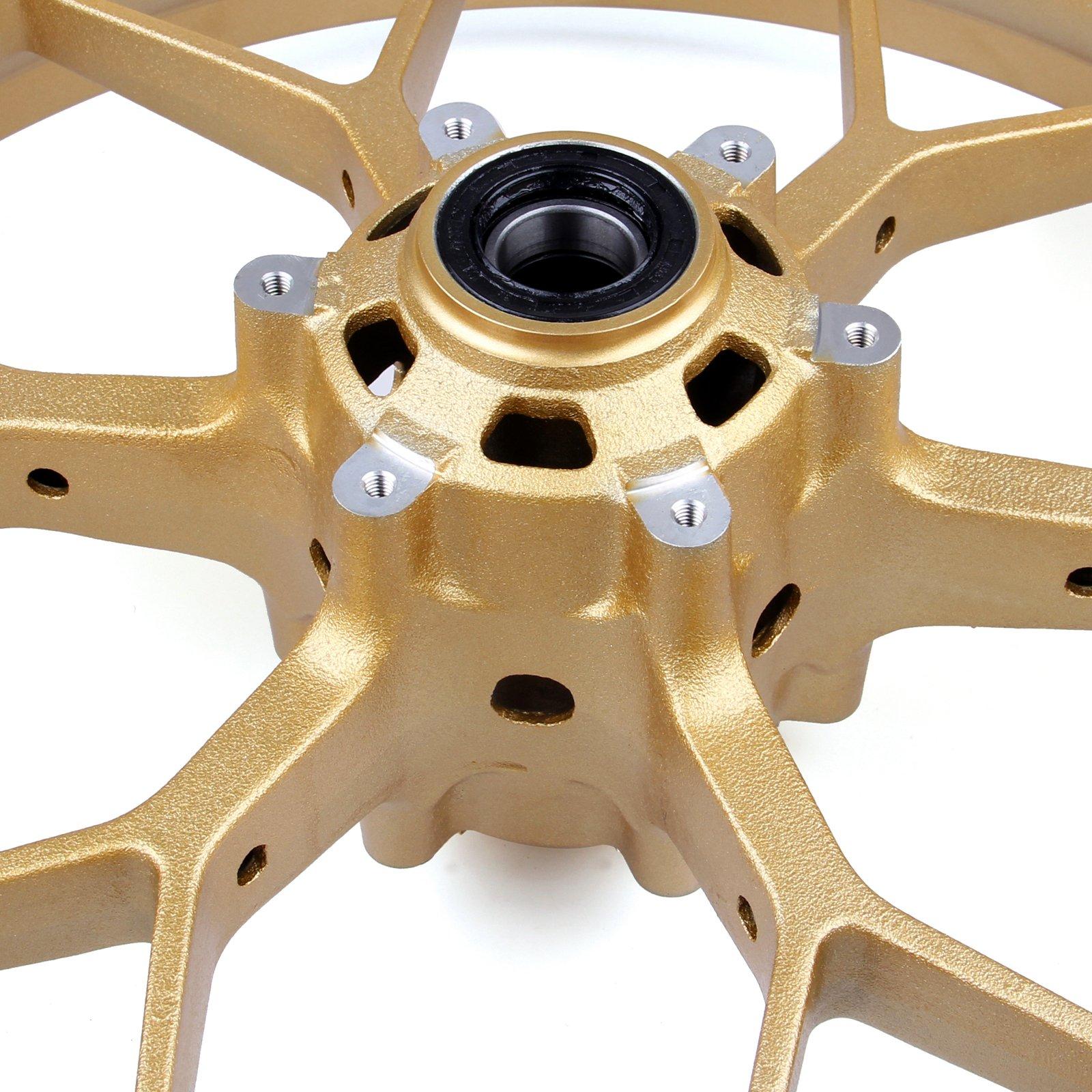 Areyourshop Front Wheel Rim For Honda CBR1000RR CBR 1000RR 2008-2014 Gold by Areyourshop (Image #3)