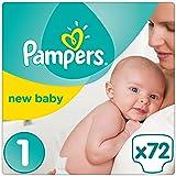 Pampers Premium Protection New Baby Gr. 1 (Newborn), 2 - 5 kg Halbmonatsbox, 72 Windeln