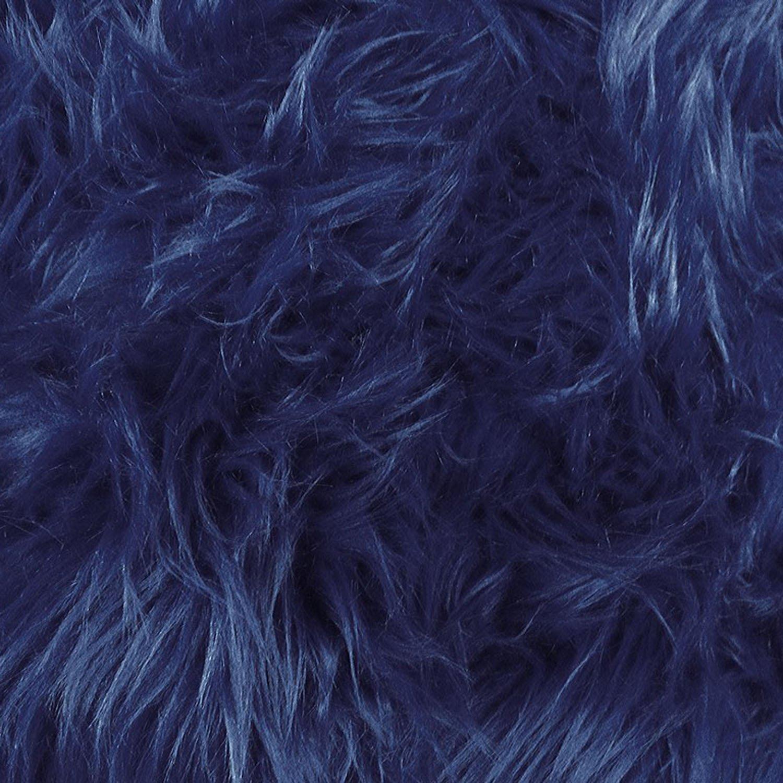 Faux Fake Fur Luxury Shag Navy 60 Inch Fabric by the Yard (F.E.つ) by The Fabric Exchange   B00NC4U5GU