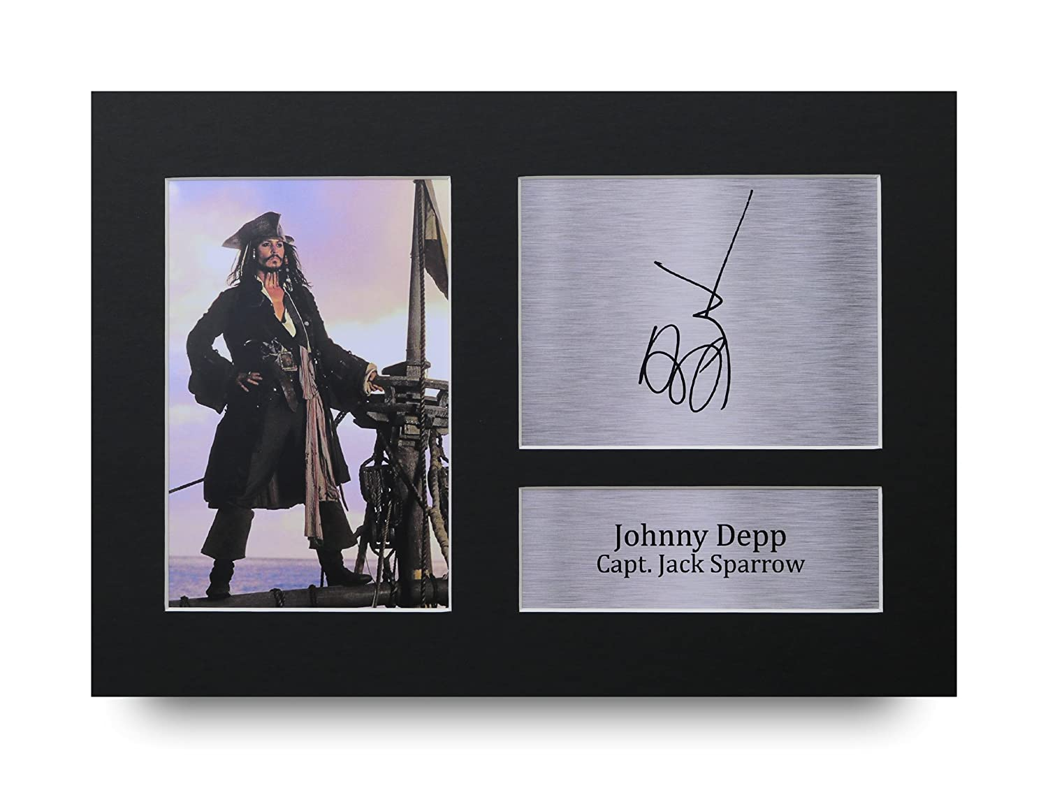 Johnny Depp firmato A4 stampato Autograph pirati dei Caraibi stampa foto immagine display – Great gift idea HWC Trading