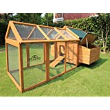 Pets Imperial® Savoy Large Chicken Coop With 1.4m Run Suitable For up to 10 Birds Depending on Size With Double Nest Box - Easy Clean Leaning Tray