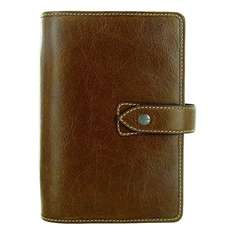 Filofax Weekly Daily Planner Malden Ochre Personal Size Leather Organizer Agenda 2019 Calendar Ring Binder with DiLoro Jot Pad 025808