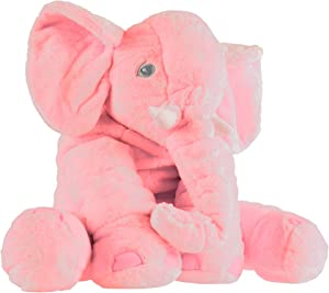 Elephant Stuffed Animal Toy- Plush, Soft Animal Friend for Toddlers, Boys, Girls and Adults by Hey!Play! (Pink)